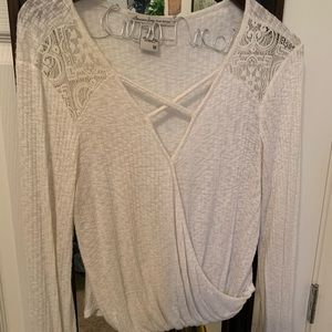 White knit American Rag Top